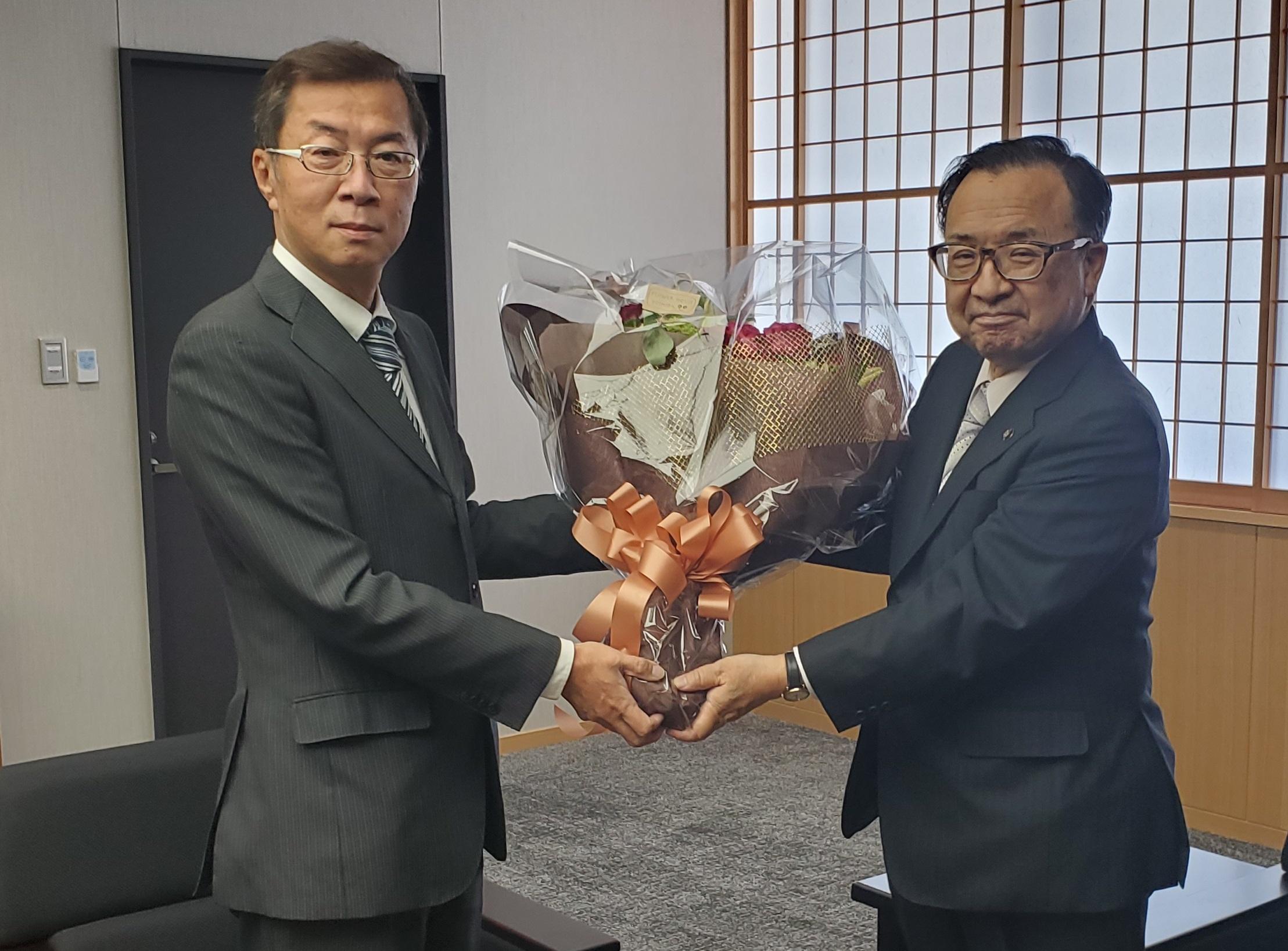 西濃地協 小川敏大垣市長の勇退に伴う表敬訪問